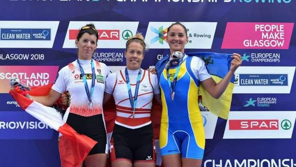 Диана Дымченко завоевала бронзу на чемпионате Европы по гребле