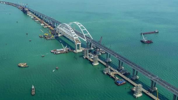 Окупанти заявили про новий рекорд Кримського мосту