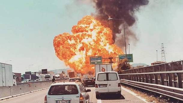 Сильный взрыв витальянской Болонье— Фото; Видео; обновлено 16:57