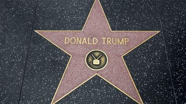 Зірку Трампа хочуть повністю забрати з Алеї слави у Голлівуді