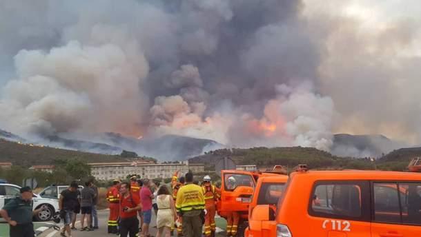 Лісові пожежі в Іспанії