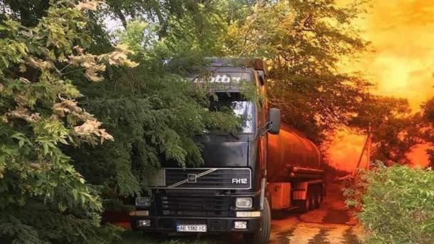 Витік азотної кислоти під Дніпром