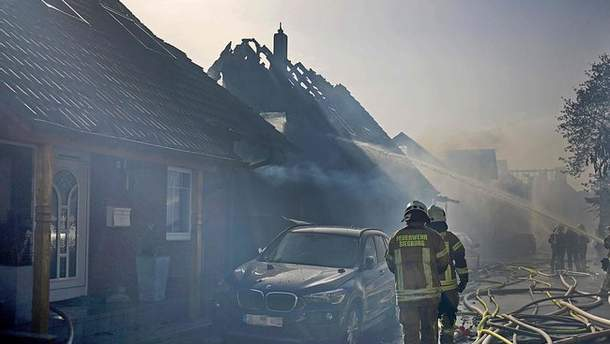 Пожар в Германии