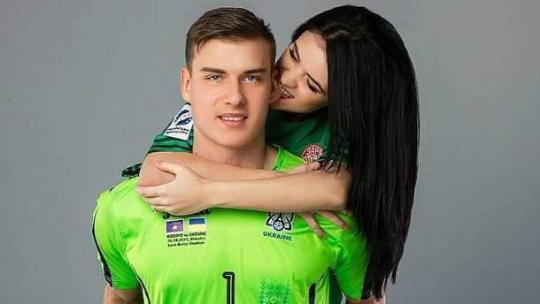 Андрій Лунін з Анастасією Томазовою