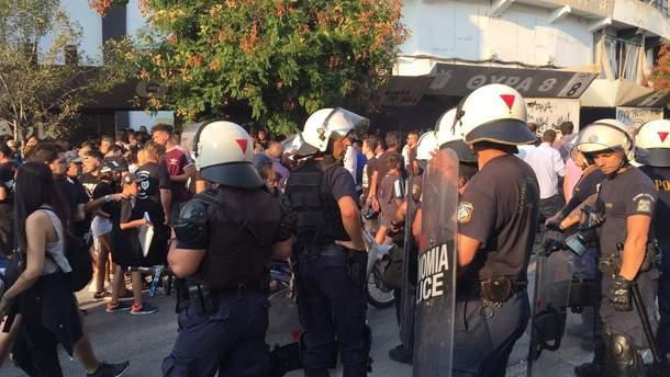 Грецькі фанати напали на російських журналістів