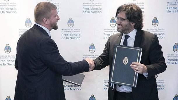 Министры юстиции Украины и Аргентины заключили ряд соглашений между странами