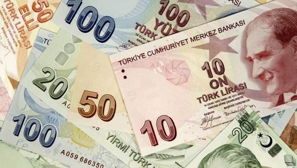 Турецкая лира продолжает обесцениваться