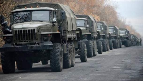 СММ ОБСЕ зафиксировала военную колонну, которая пересекла границу Россия с Украиной