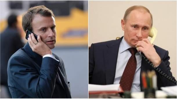 Відбулася телефонна розмова між Макроном та Путіним