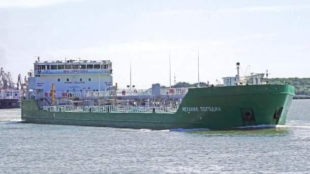 Російське судно у Херсонському порту
