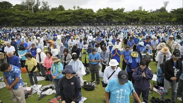 70 тысяч человек протестовали против военной базы США