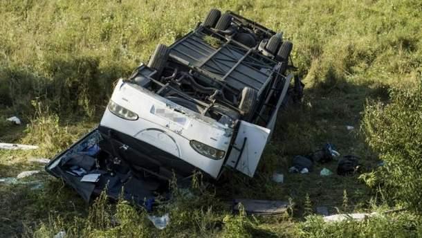 ДТП з українським автобусом в Угорщині