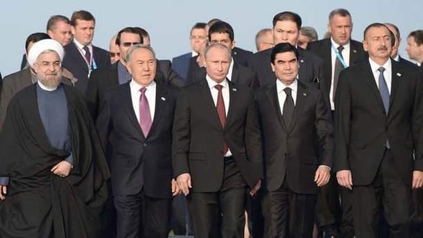Каспійське море поділили між собою 5 країн регіону