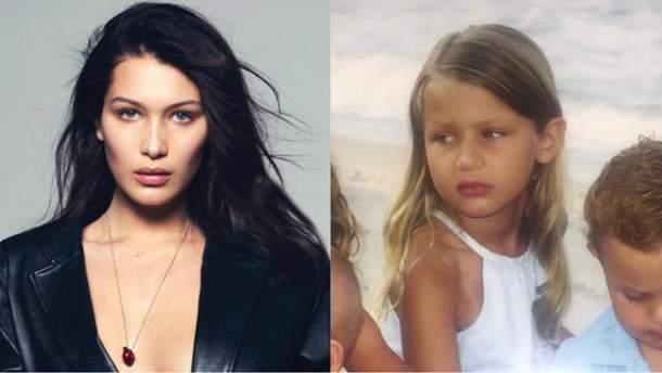 Модель Белла Хадид показала, как выглядела в детстве