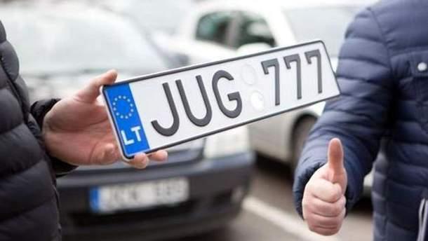 Афера з автомобілями на єврономерах