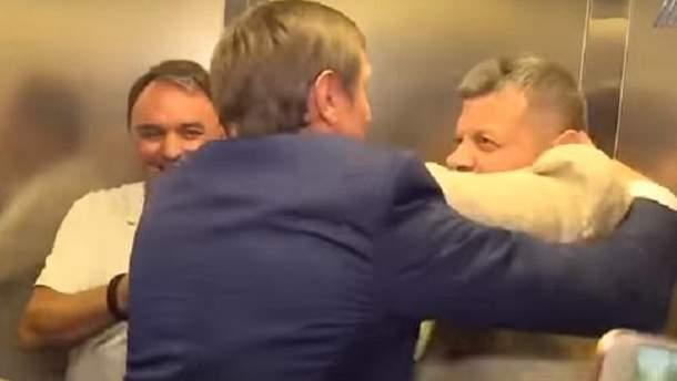 Нардепи Мосійчук і Шахов влаштували нову жорстку бійку в ліфті: відео