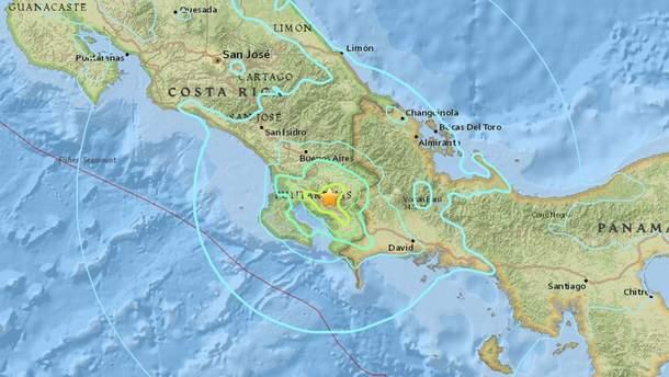 Землетрясение в Коста-Рике