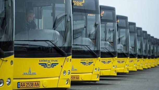 Изменение движения транспорта Киева