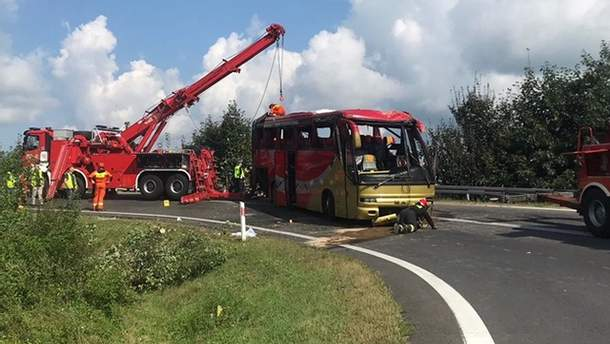 ДТП з українським автобусом у Польщі