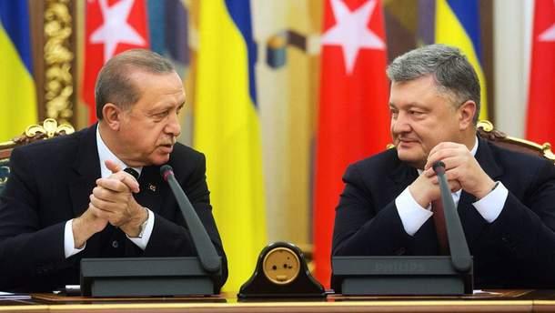Порошенко передав особисте послання президенту Туреччини