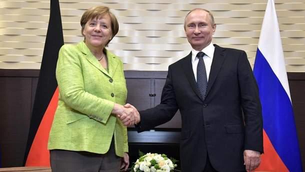 Зустріч Меркель і Потіна