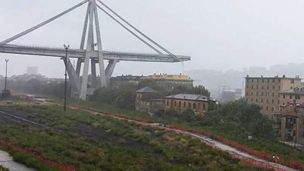 Обвал моста в Италии