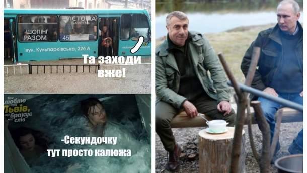 """Найсмішніші меми тижня: """"Титанік"""" у Львові, Комаровський рибалить з Путіним та сідниці Кардашян"""