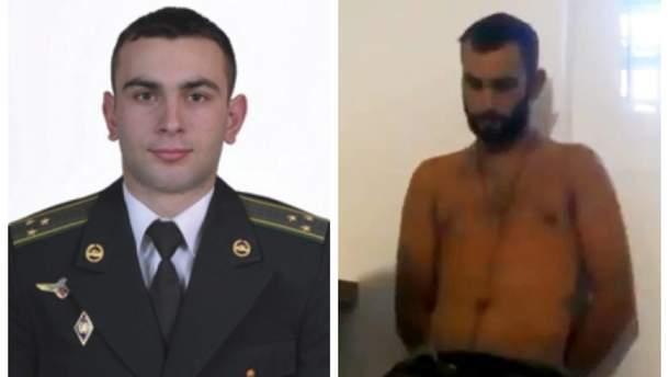 Сергей Котенко до плена боевиков (слева) и во время допроса (справа)