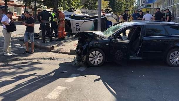 ДТП в Сумах с автомобилем полиции и иномаркой