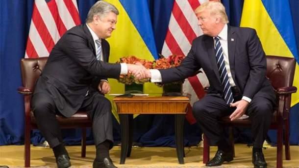 В Брюсселе Порошенко на встрече с Трампом говорил об освобождении Сенцова