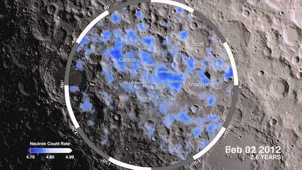 Обнаружен лед на Луне.