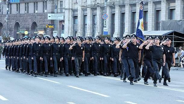 Подготовка МВД к параду по случаю 27-й годовщины независимости Украины