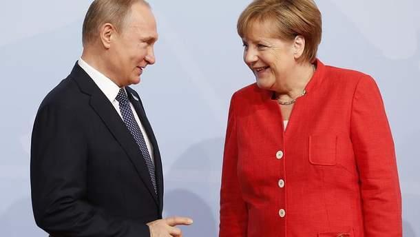 Путин и Меркель не договорились о транзите газа через Украину