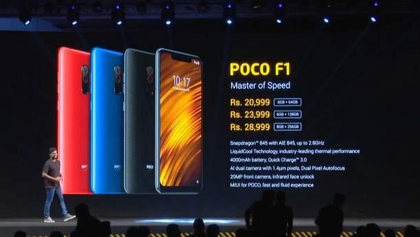 Xiaomi Poco F1: характеристики и цена