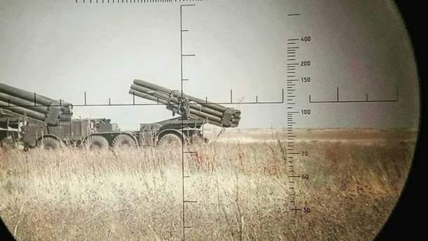 """Українські військові потренувалися стріляти з """"Ураганів"""""""