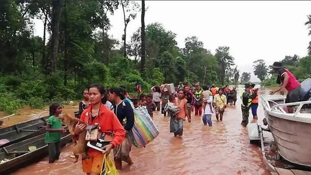 Наводнение в Лаосе