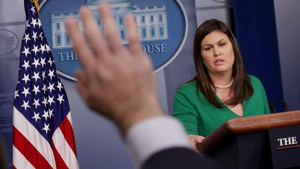 Пресс-секретарь Белого дома Сара Сандерс