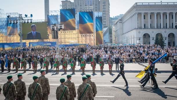 Военный парад ко Дню Независимости в Киеве