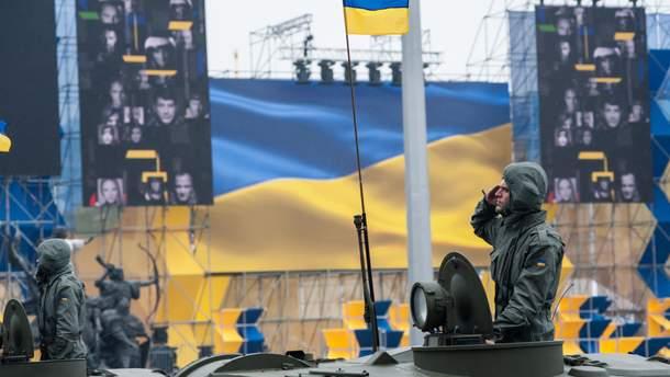 Парад в Киеве 24 августа 2018 ко Дню Независимости Украины