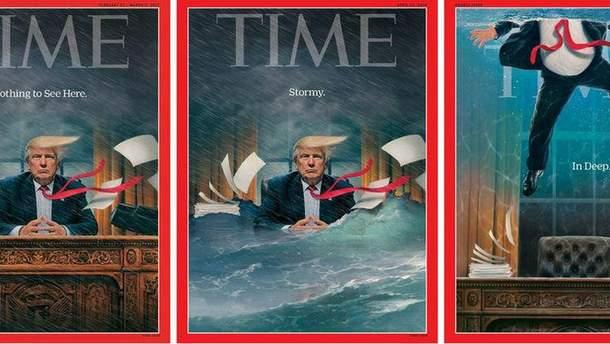 Time выпустил свою новейшую обложку с тематикой Трампа