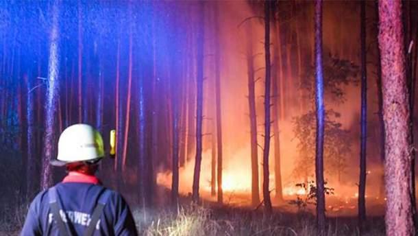 Пожар недалеко от Берлина