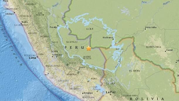 Землетрус у Південній Америці