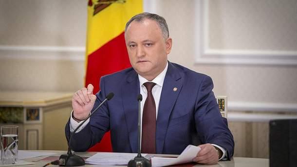 Додон заявив, що відкритий до діалогу з Україною