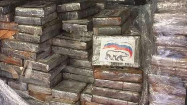 У Бельгії вилучили рекордну партію кокаїну з логотипом партії Путіна