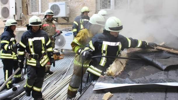 Пожежа в центрі Києва