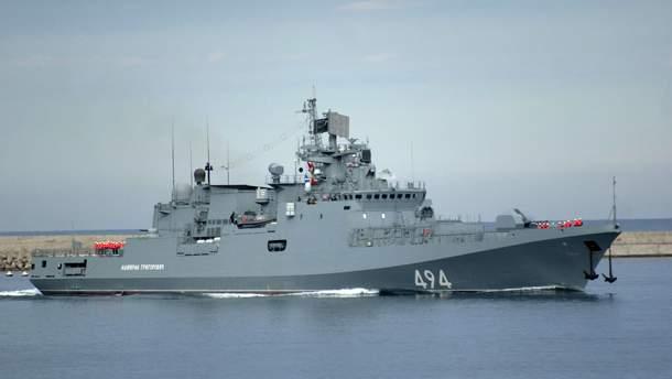 """Фрегат """"Адмирал Григорович"""" принимал в свое время участие в войне в Сирии"""