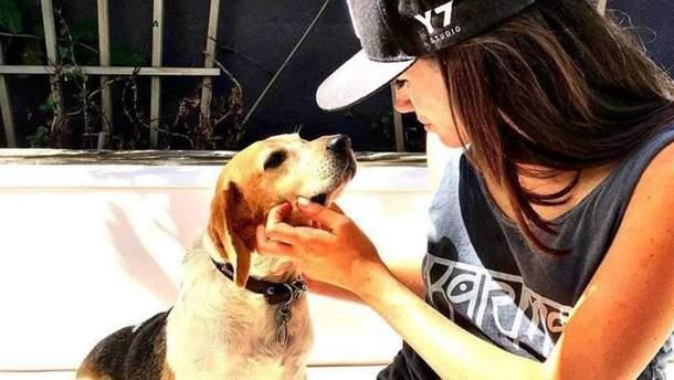 Меган Маркл с собакой