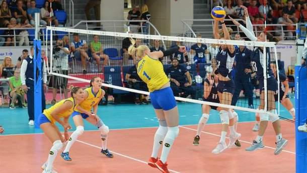Женская сборная Украины по волейболу проиграла сборной Греции