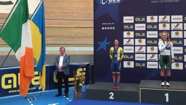 Ольга Кулинич виграла срібло на ЧЄ з велотреку