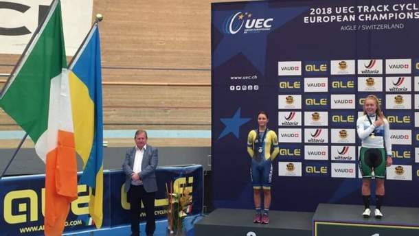 Ольга Кулинич выиграла серебро на ЧЕ по велотреку